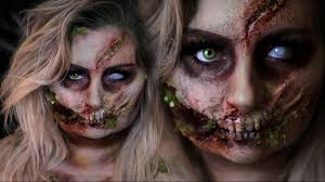 Zombie Halloween Costumes Rotten Glam Zombie Halloween Costume Makeup Tutorial 31 Days
