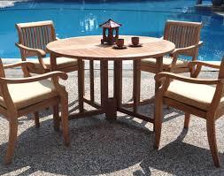 furniture 5 piece luxurious grade a teak dining set 48 round