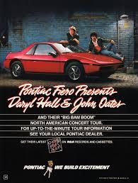 pontiac fiero presents daryl hall and john oates 1985 pontiac