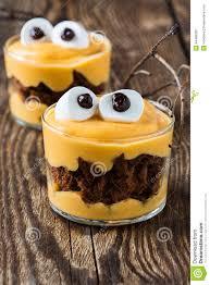 halloween treats little monster dessert stock photo image 44486326