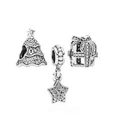 pandora oh tree charm gift set sparkling silver swag