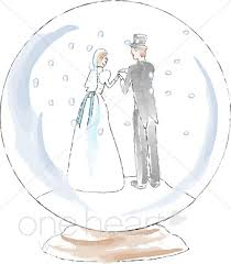 Christmas Wedding Programs Snow Globe Clipart Winter Wedding Clipart