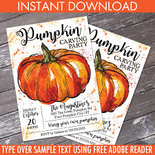 American Flag Pumpkin Carvings by Pumpkin Carving Party Invitation Fall Party Pumpkin