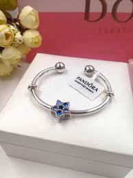 star bangle bracelet images Pandora blue star open bangle bracelet xingjewelry jpg