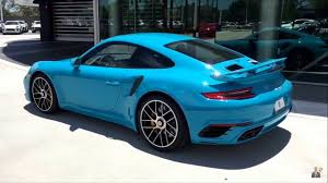 miami blue porsche gt3 rs 2017 miami blue porsche 911 turbo s 580 hp porsche west broward