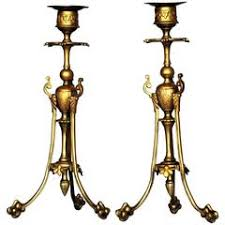 Candle Holder Wall Sconces Pair Of French Empire Style Lion Head Candle Holder Wall Sconces