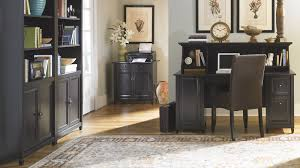 Home Office Decor Ideas by Furniture Wonderful Black Wooden Desk With Hutch By Sauder