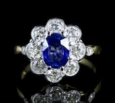 antique rings sapphire images Sapphire diamond ring cluster jpg