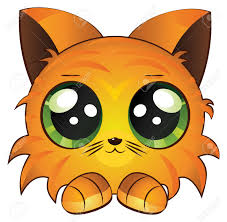cute cartoon red kitten on white royalty free cliparts vectors