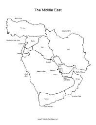 outline map middle east east map