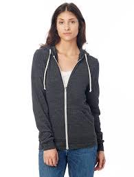 rocky eco fleece zip hoodie alternative apparel