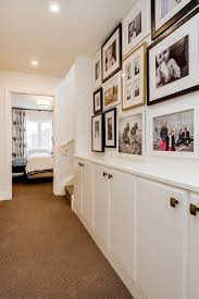 built in hallway cabinets transitional hallway decorating ideas hall transitional with built