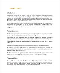 policy template 10 free word pdf document downloads free