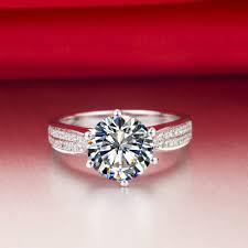 aliexpress buy 2ct brilliant simulate diamond men genuine silver 925 1 5ct brilliant diamond engagement rings for