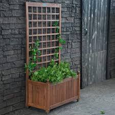 Wooden Trellis Plans Planters Free Herb Planter Box Plans Gift Garden Ideas Wood