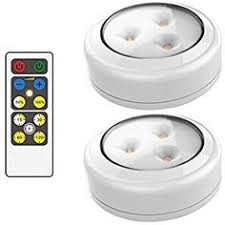 sharper image wireless remote led puck lights emerson wireless remote led puck light set no wires needed great