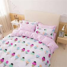 Printed Duvet Covers Pretty Pink Girls Ice Cream Printed Bedding Duvet Cover Set U2013 Fab