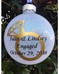 amazing deal on engagement ornament personalized engagement