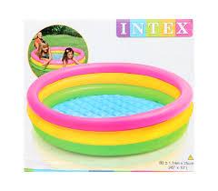 Intex Inflatable Pool Buy Intex Inflatable Pool Three Ring 45 Inch Diameter Online In