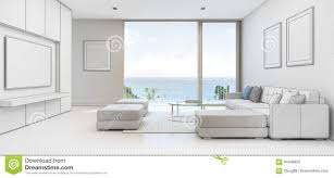 sea view living room sea view living room with terrace in luxury beach house sketch