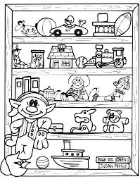 printable christmas coloring elf toy shlef elf