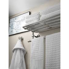 bathroom brushed nickel hotel towel rack for nice bathroom