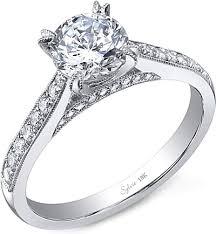 milgrain engagement ring sylvie milgrain engagement ring sy808