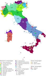 Map Of Capri Italy by Languages Of Italy Wikipedia