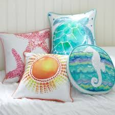 Seashore Decorative Pillows Nautical Decor Pillows Foter