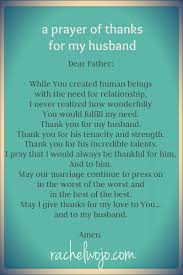 a prayer of thanks for my husband rachelwojo