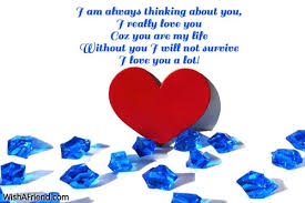 i am always thinking about you words of love