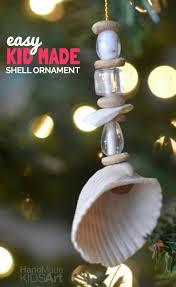 easy kid made shell ornament shell ornaments keepsakes and shell