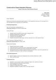 Sample Hvac Resume by Construction Resume Samples