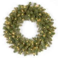 buy 24 lighted wreaths from bed bath beyond
