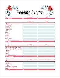 Wedding Budget Wedding Budget Planner Office Templates