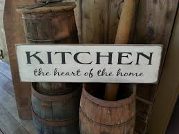 kitchen the heart of the home wood sign farmhouse decor