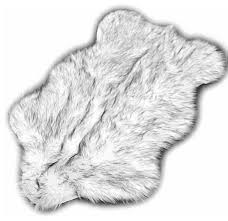 Faux Fur Area Rugs Fur Accents Llc Black Tip Russian Wolf Premium Faux Fur Area Rug