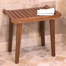 oasis bathroom teak corner shower seat stool chair