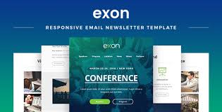 exon responsive email newsletter template by maestomail