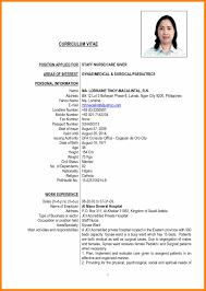basic resume exles 2017 philippines lovely curriculum vitae sle philippines contemporary exle