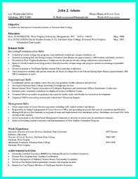 resume for college application objectives phenomenal resume format forllege application exles