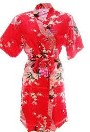800103 red ladies oriental satin silk feel kimono robe dressing