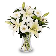 white lillies white lilies and gerbera white flowers floraqueen