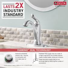 Pex To Faucet Connection Delta Faucet 594 Mpu Dst Linden Polished Chrome One Handle