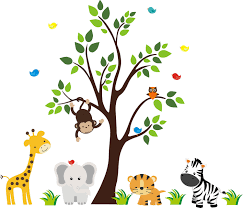 wall decor nursery decor baby nursery wall decals jungle animal wall stickers baby room wallpaper decor
