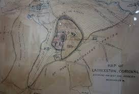 Ancient Map Old Maps Of Launceston Launceston Then