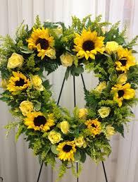 sunflower wreath illinois florist fabbrinis flowers sunflower wreath 266