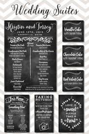 Wedding Program Chalkboard Wedding Monogram Welcome Sign Big And Tall Board To Welcome