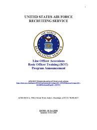 usaf ots recruiter program announcement bot guide united