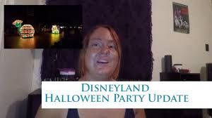 disneyland halloween party update 2017 youtube